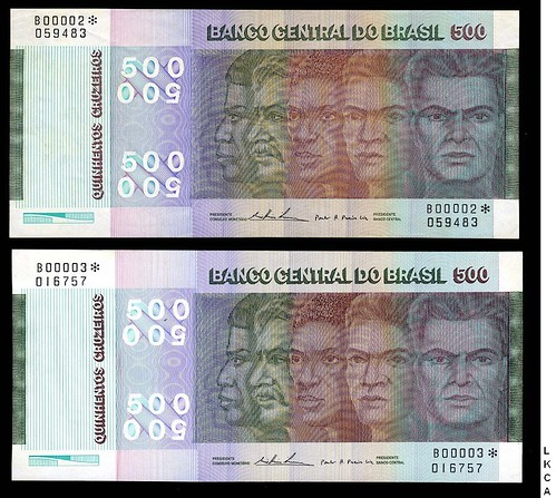 Brazil replacement note
