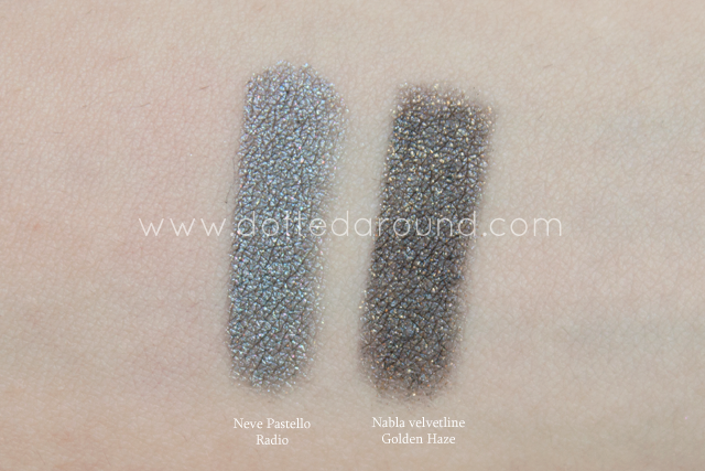 neve cosmetics radio pastello swatch