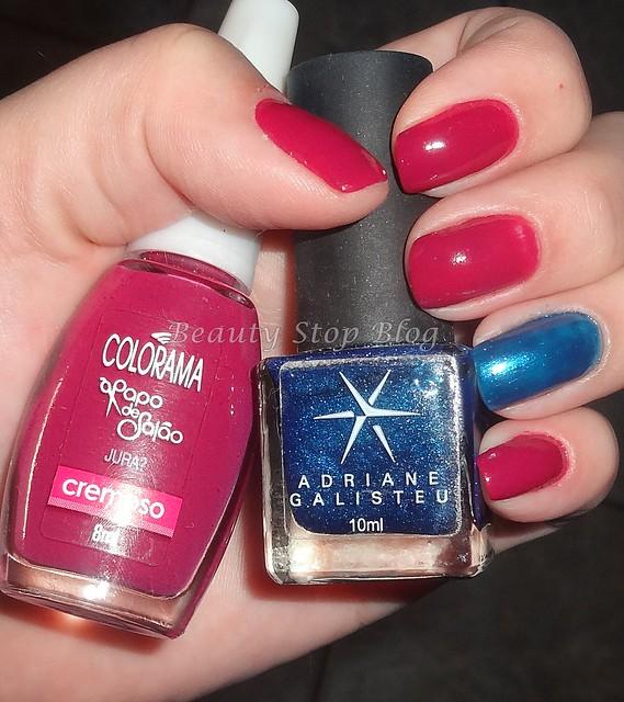 unha da semana esmalte jura da colorama e azul da adriane galisteu beauty stop blog bruna reis