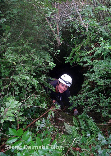Nata entering the cave