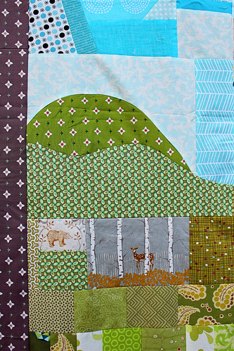 Farmhouse Quilt Mountains and Wildlife