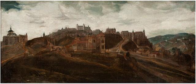 Vista de Toledo. Anónimo. Siglo XVIII. Museo del Greco.