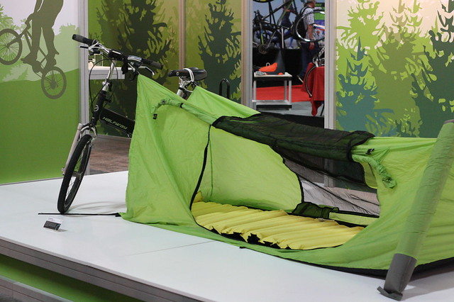 upon bicycle tent