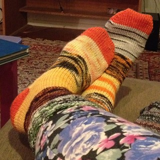 #100happydays My glorious Halloween Socks are done! Absolutely the most fun I have ever had knitting socks!