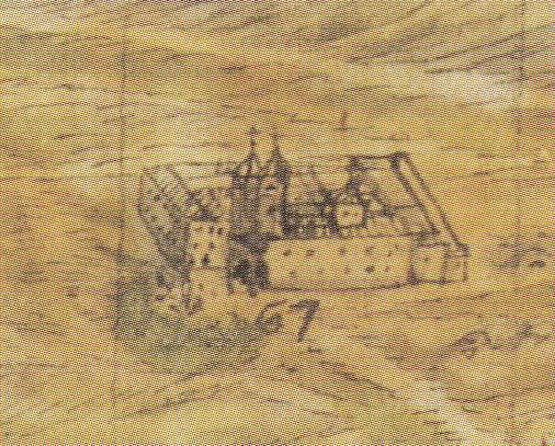 Convento de San Bartolomé de la Vega en el plano de Arroyo Palomeque de 1721