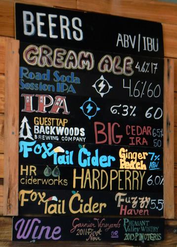 At Cascade Locks, Thunder Island Brewing Company Beer List