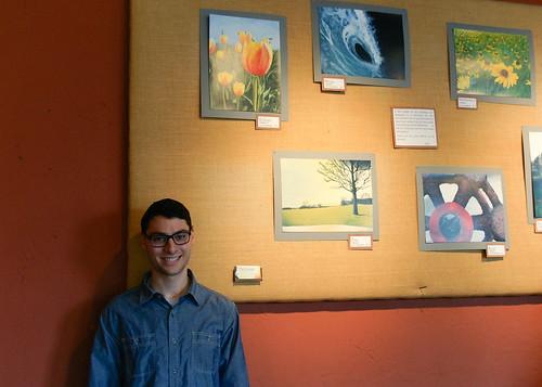 Brew HaHa! displays engineering student's paintings