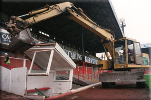 picture of demolition of Victoria ground