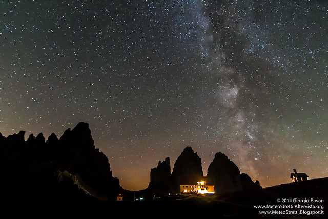 Milky way over Tre Cime di Lavaredo and Monte Paterno