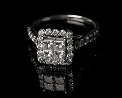 ring, jewellery, diamond, gemstone, black-and-white, wedding ring,