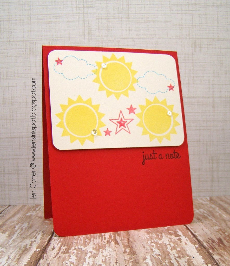 Sunshine Note by Jen Carter