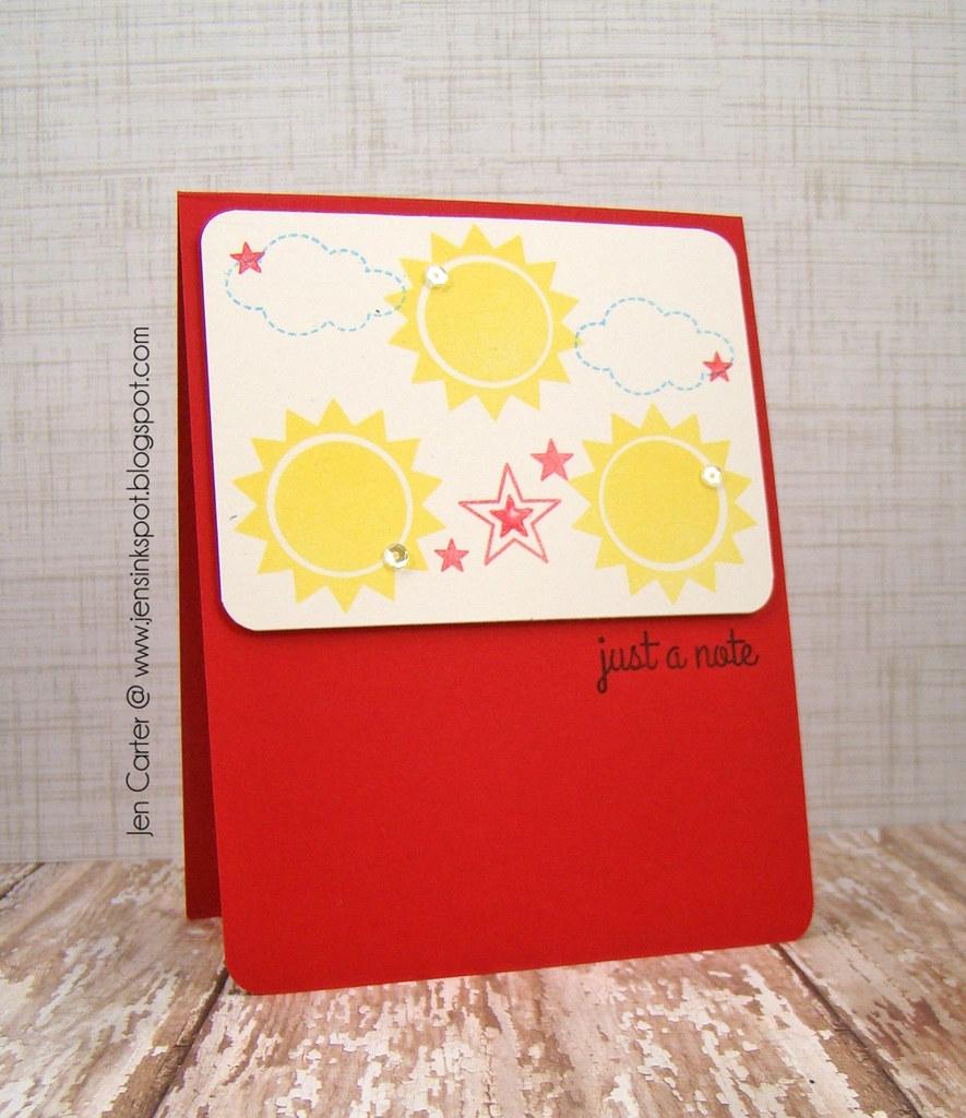 Sunshine Note by Jen Carter