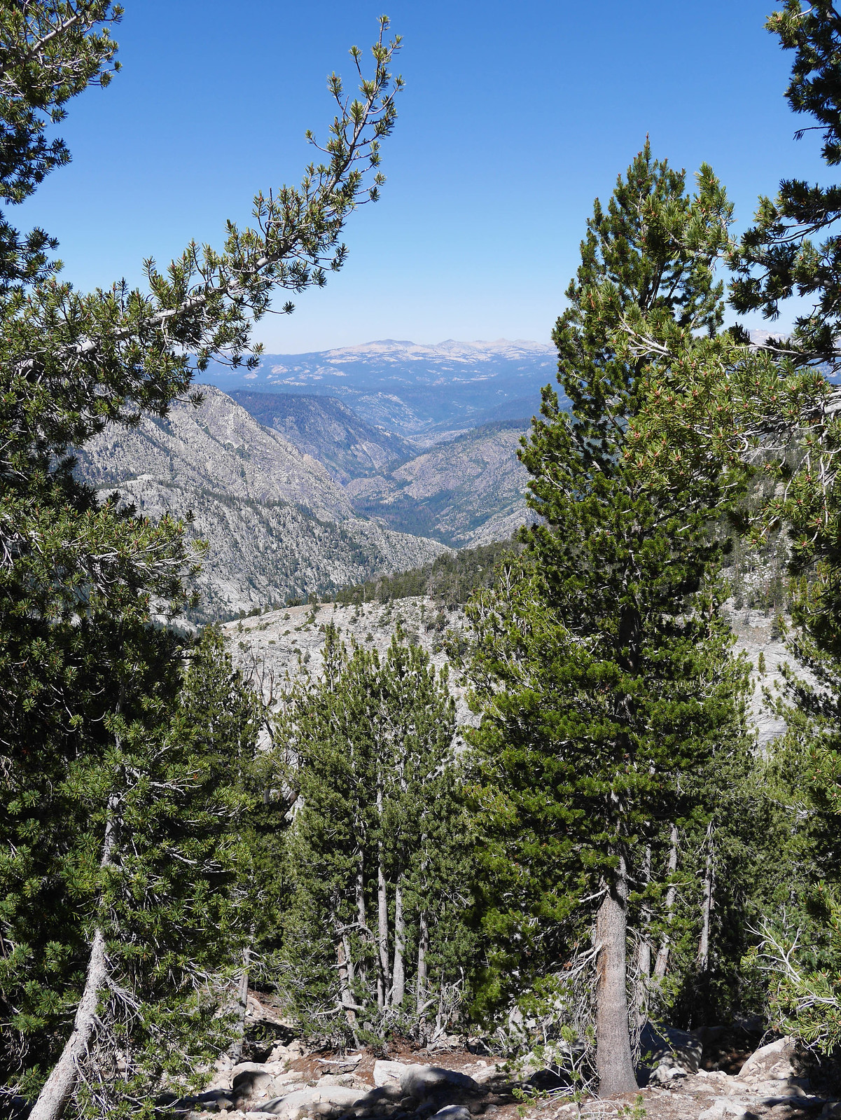 Looking northwest towards Fish Valley, which I hiked up on the way in.