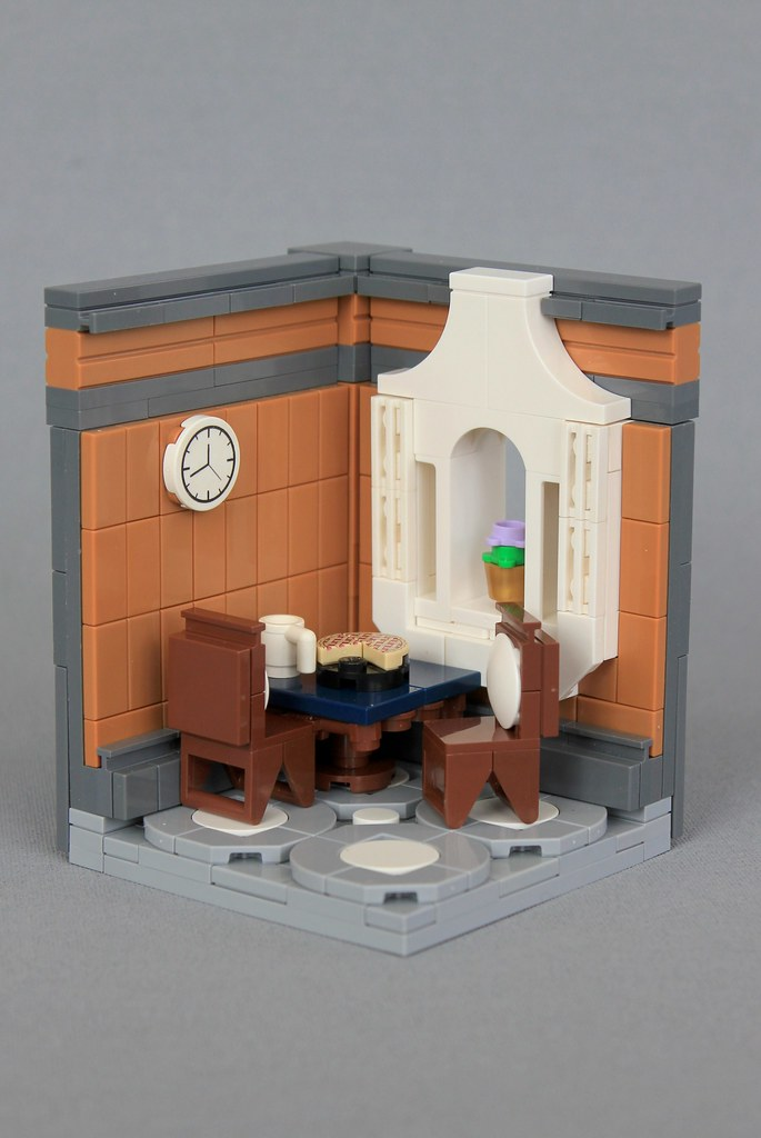 Dining Room (custom built Lego model)