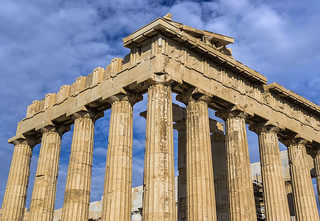 Afbeelding van Acropolis in de buurt van Athene. grecia greece athens atenas acropoli acropolis greek art arte griego classic clasica partenon parthenon column columna frieze friso templo temple