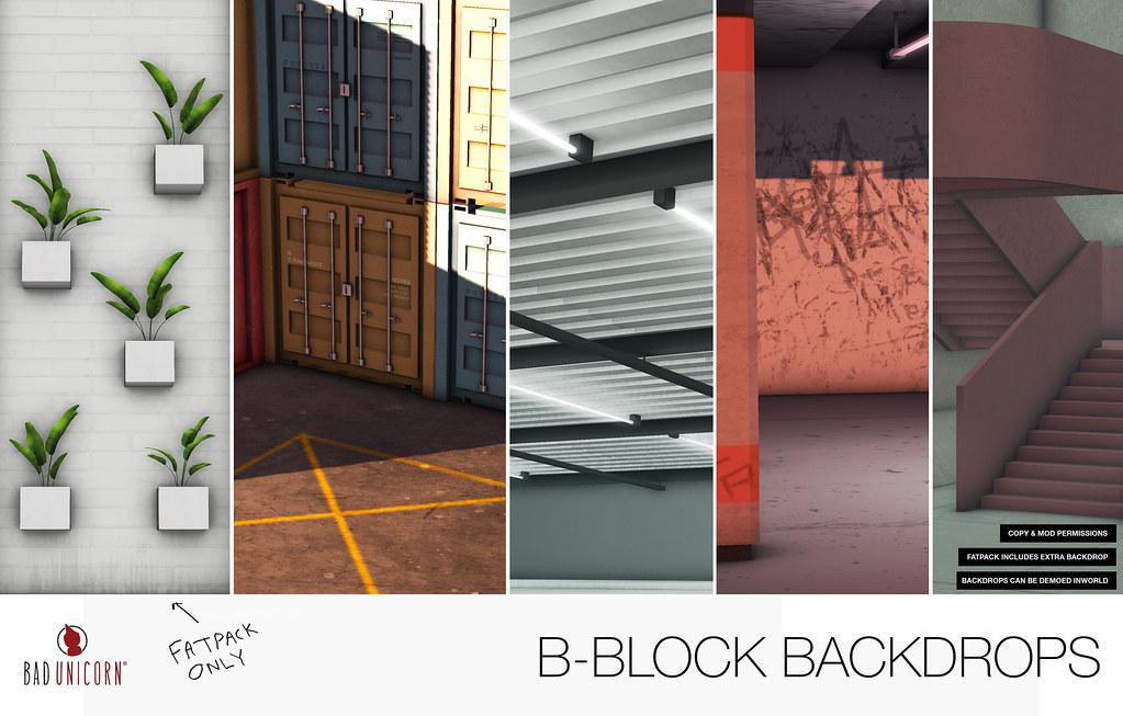 NEW B-Block Backdrops @ TMD - SecondLifeHub.com