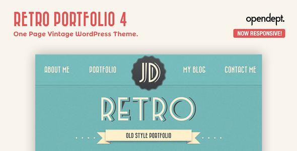 Retro Portfolio WordPress Theme free download