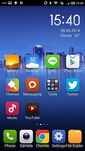Home screen ของ Xiaomi MI3