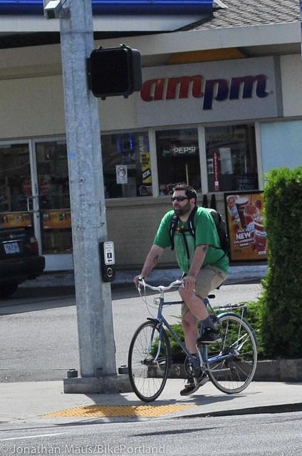 NE Halsey biker