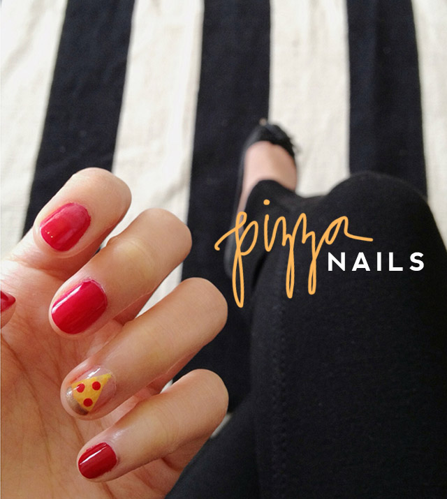 pizza nails tutorial