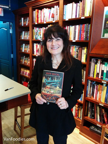 Ruth Reichl and her novel, Delicious