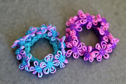 Tie-Dyed-Flower-Bracelets