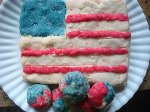 American Flag shortbread