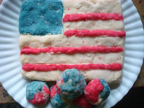 American Flag shortbread