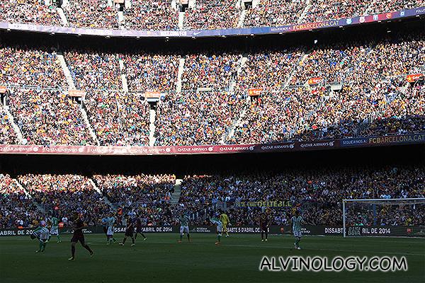 Packed stadium