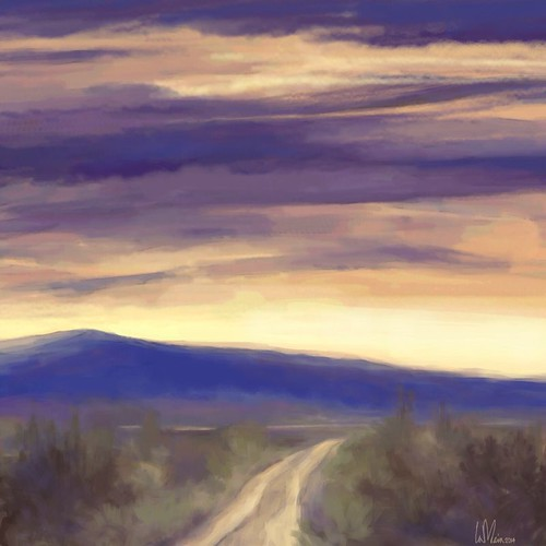 mountains landscape country roads brushesapp icolorama