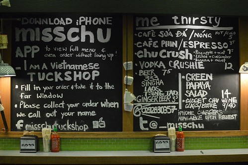 Miss Chu Tuckshop: Menu