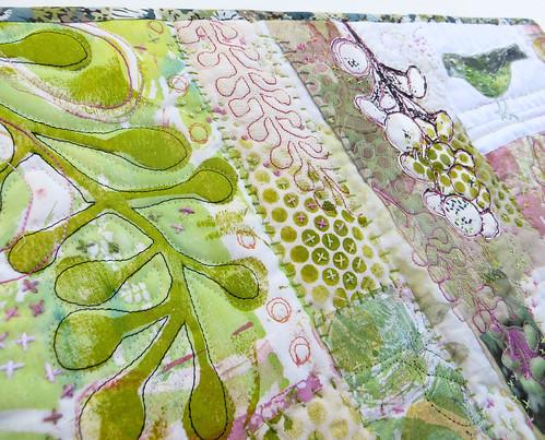 Poke Salad Annie Series ~ Green Bird (detail)