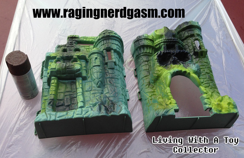 RNG Custom Paint Master of the Universe Castle Gray Skull by Ana Khayos