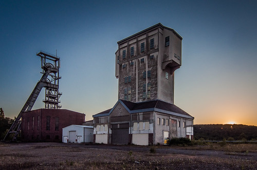 blue sunset germany deutschland kohle sonnenuntergang architektur coal industrie saarland