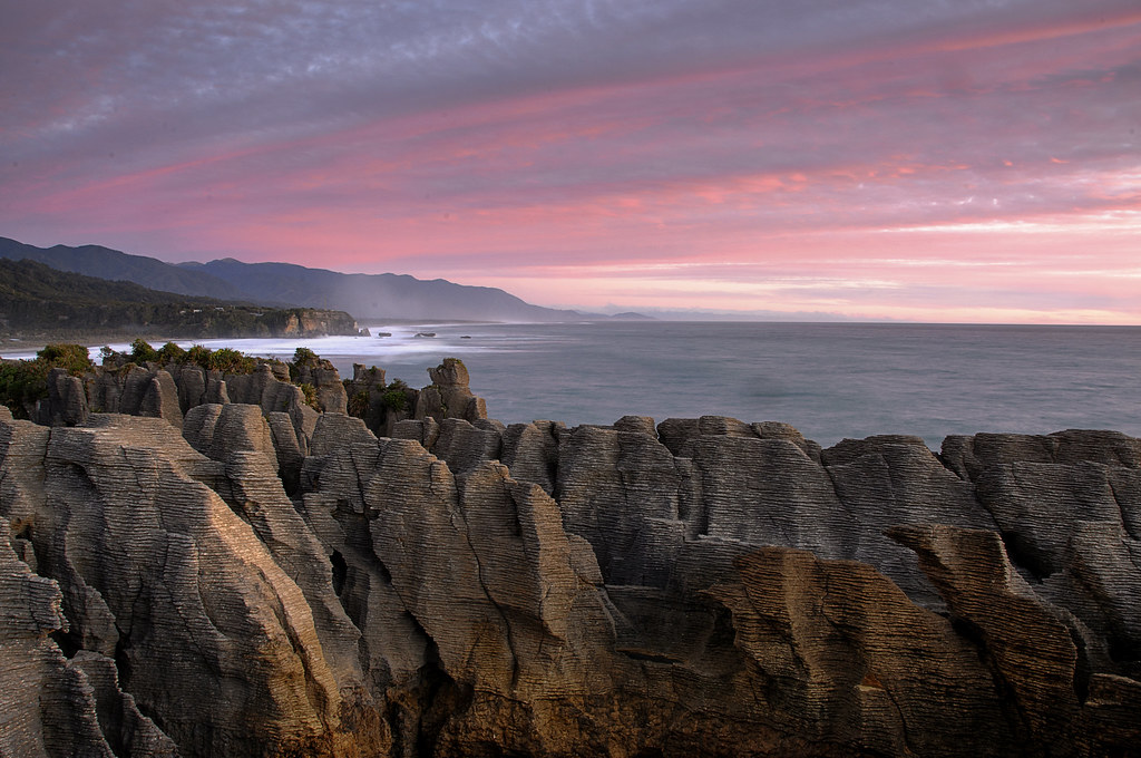 Punakaiki - Pancake Rocks Sunset