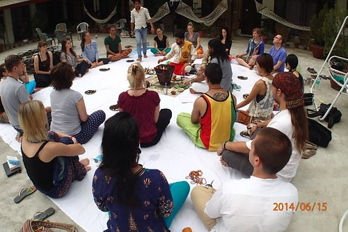 Opening Fire Ceremony for June-July Yoga Teacher Training
