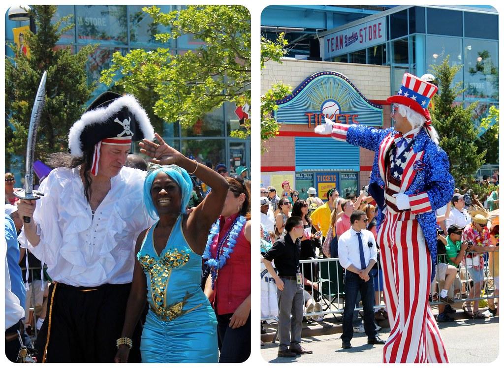 Coney Island Mermaid Parade Mayor and Uncle Sam