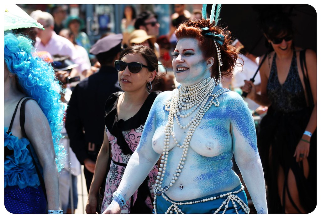 coney island mermaid parade 2014 boobs