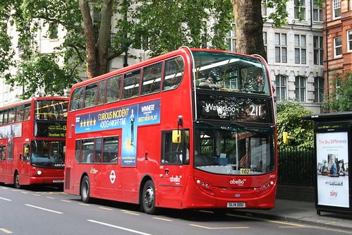 Abellio London 2457 on Route 211, Sloane Square