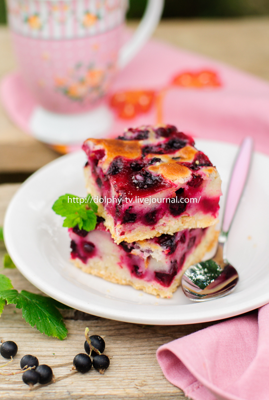 Black Currant Pie Squares