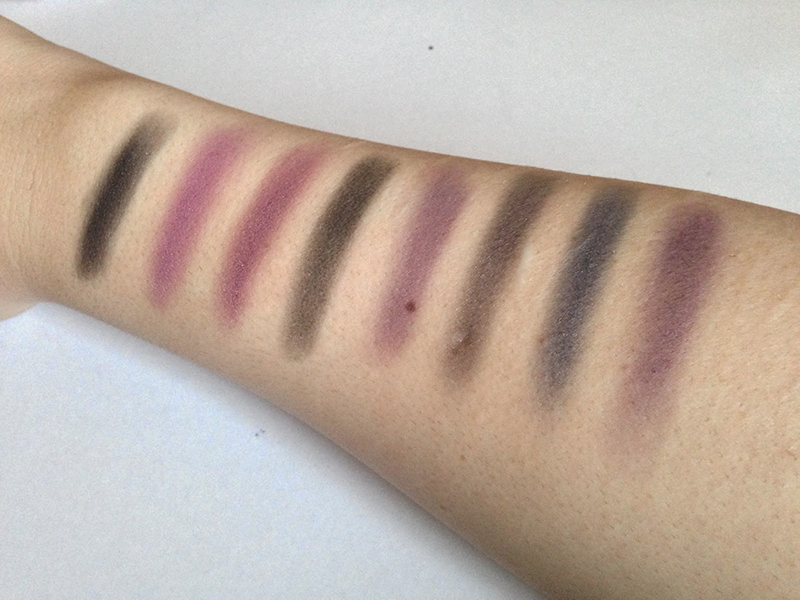 NYX Book of Smokey Collections Purple Smokey Swatches