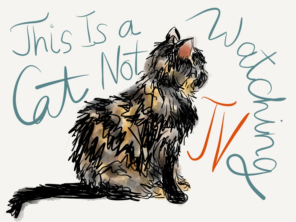 "Our cat Raisin drawn with the ""Paper"" app 2"