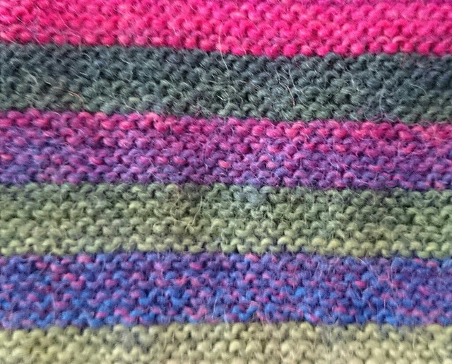 colour changing yarn stripes