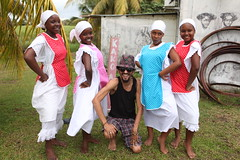 Kamodjaka dancers with Mr Kakomasta