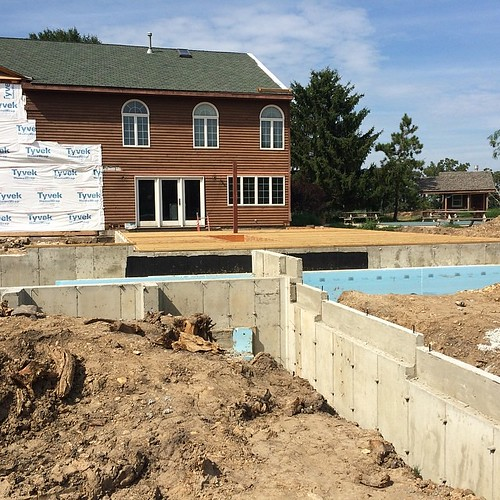 Giant hole has turned into giant hole + foundation. #passivehouse