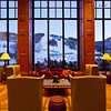 Grand window overlooking the slopes