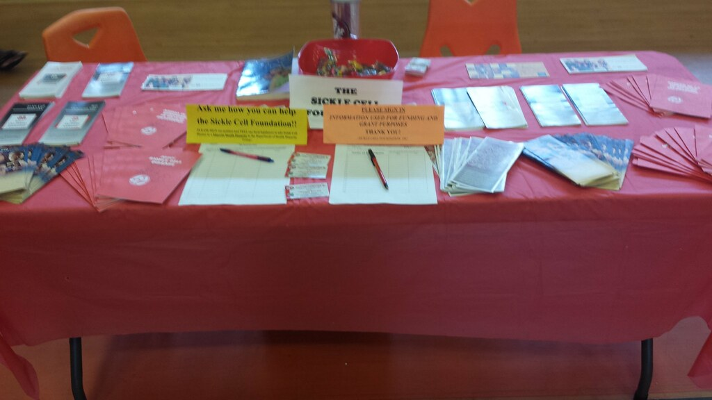 Table set up with lots of great information!