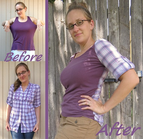 Plaid-Back Tee - Before & After