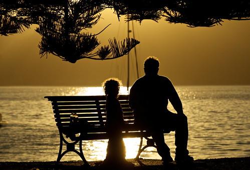 sunset silhouette sydney australia
