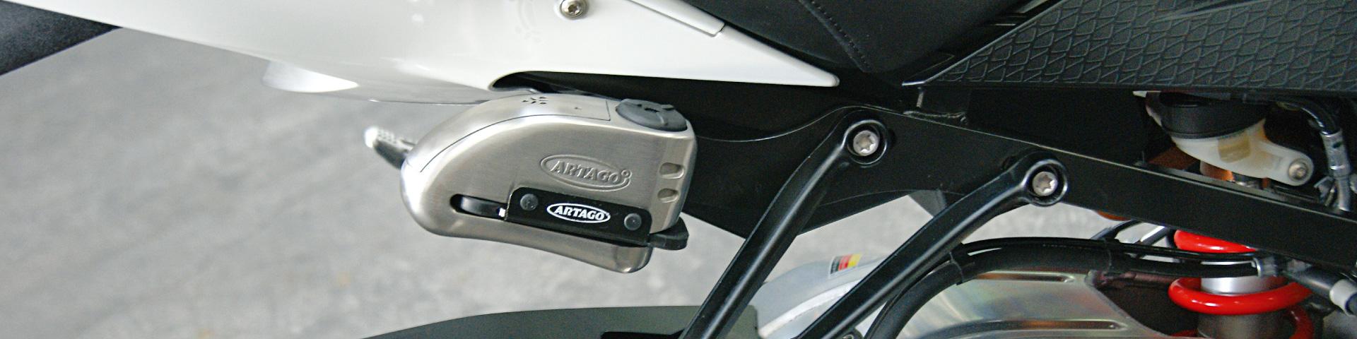 Antirrobo disco con alarma para moto y scooter